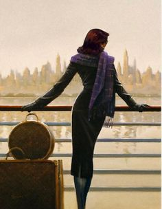 """Lady with a Bag"" Jack Vettriano"