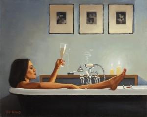 Non ho voglia di uscire, prepararmi, depilarmi, c'è Sanremo! Tanto so che se esco rischio di ritrovarmi circondata da trottolini amorosi du du da da dà. Qua non mi manca niente, il vino c'è, il cibo pure e se ho voglia d'amore ho sempre delle batterie di riserva.