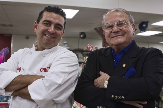 "Bartolo ""Buddy"" Valastro Jr. and Don Antonio Polese during the taping of the show"